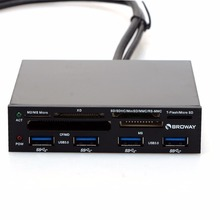 3.5 In Internal PCI-E PCI Express USB 3.0 HUB Card Reader SD SDHC MMS XD M2 CF Memory Card Readers & Adapters VHE56 T40