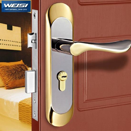 Door lock European indoor door lock bedroom real wood door locks with hand. & Aliexpress.com : Buy Door lock European indoor door lock bedroom ... Pezcame.Com