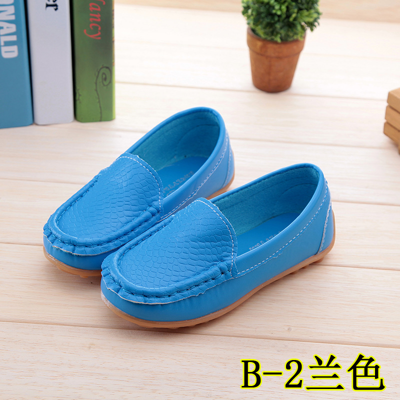 Children Shoes 2016 New Casual Sneakers Girls Breathable Leather Shoes Boys Sports Shoes kids Sneakers Baby Boat Shoes Blue21-30