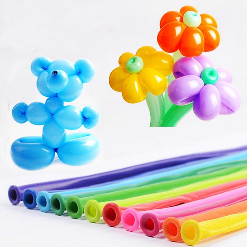 Good quality 200pcs/lot 260 Magic Balloons Long Balloon Modelling Latex balloons Clown balls Assorted many Color Toys 1.8g/