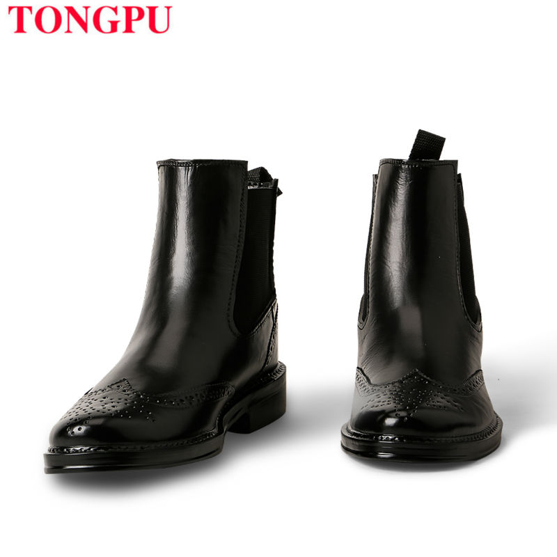 ФОТО Tongpu Rain Boot High Quality Hot Sale Eco-Pvc Ankle Water Shoes Fashion Style Young Lady Favourtie No 58