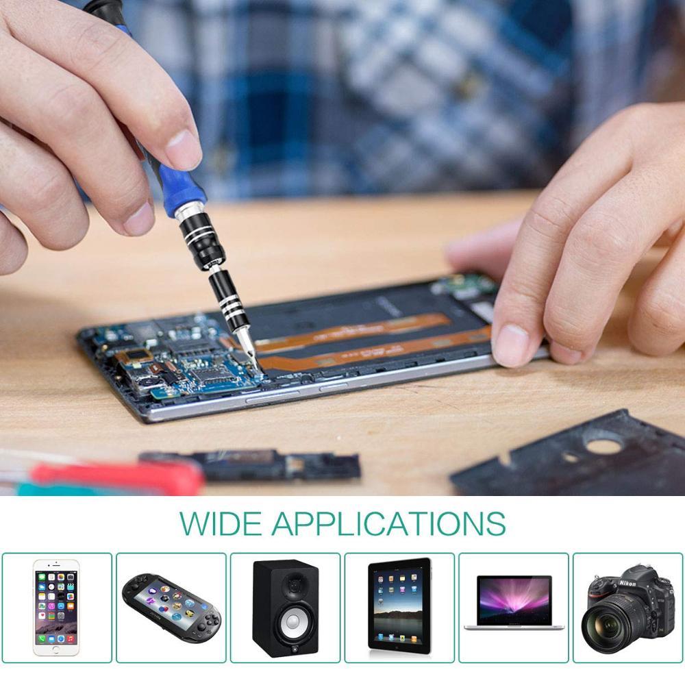 Купить с кэшбэком ORIA Precision Screwdriver Bit Set 60-in-1 Magnetic Screwdriver Kit For Phones Game Console Tablet PC Electronics Repair Tool