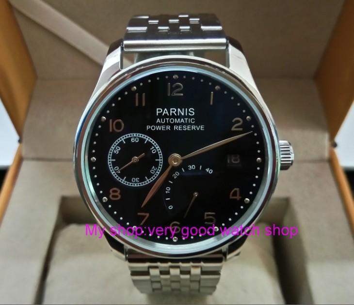 43mm PARNIS Automatic Self-Wind Mechanical movement men