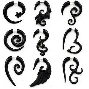 Showlove-2pcs Acrylic Fake Cheater Twist Spiral Ear Taper Gauges Expander Earring plug Body piercing jewelry(China)