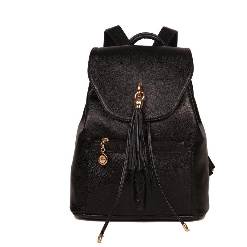ФОТО  2017 Fashion Women Backpack School Bags For Teenagers Girls Preppy Style PU Leather Bag Zipper Female Backpacks Shoulder bag
