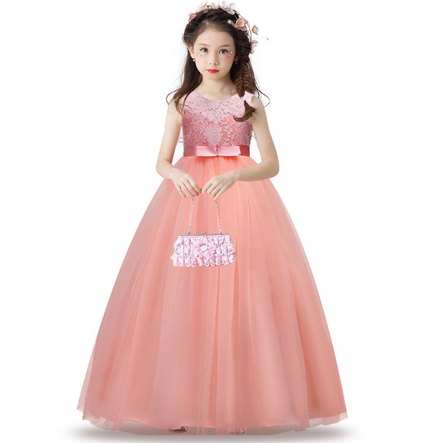 Children Lace Princess Girl Dress for Wedding Birthday Party Teenage ...
