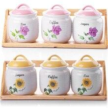Seasoning box set ceramic spice jar piece set kitchen supplies home