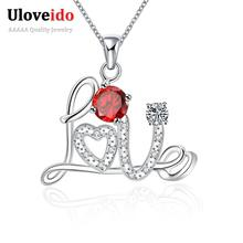 Necklace Women Silver Color Suspension Necklaces