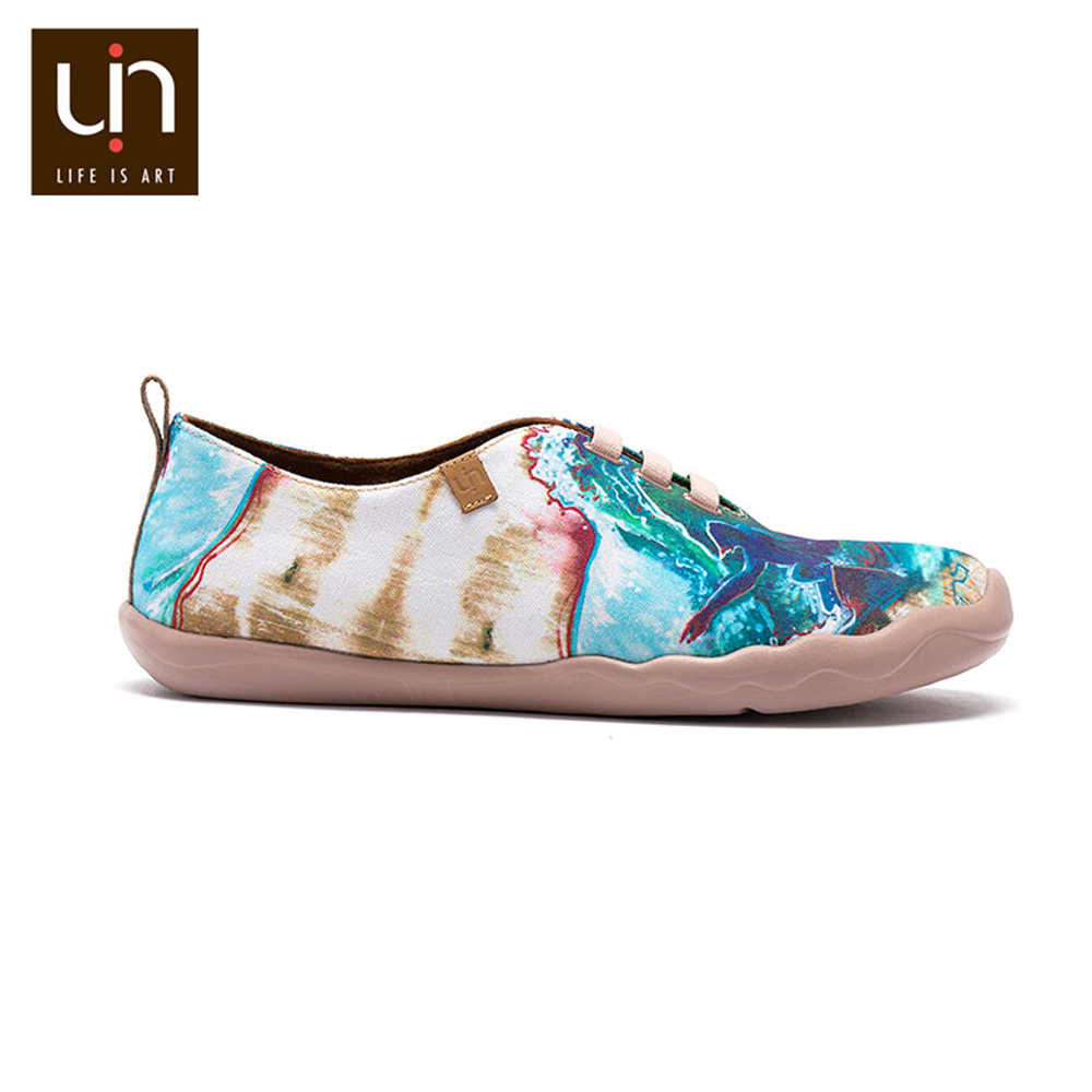 UIN גלישה צבוע עיצוב גברים נעליים יומיומיות רחב רגליים רך ופרס סניקרס חיצוני לנשימה סופר קל משקל נוחות נעליים