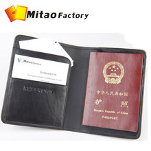 2016 New Arrival Genuine Sheep Leather Passport Purse Luxury Brand Black Color Bilfold Passport Bag(China)