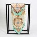 4 colores 53 cm Clásico A Cuadros Impreso pequeña bufanda cuadrada de seda 2017 MÁS NUEVAS mujeres bufandas de Seda pequeña Plaza 100% bufanda de seda