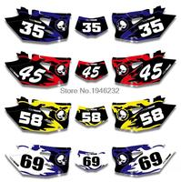 For Yamaha WR450F WRF450 2012 2013 2014 2015 Custom Number Plate Backgrounds Graphics Sticker & Decals Kit