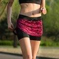 Aptitud de los deportes profesionales de las mujeres corriendo yoga jogging pantalones cortos mujeres pantalones cortos de tenis falda la exposición contra cortocircuitos de la falda de tenis