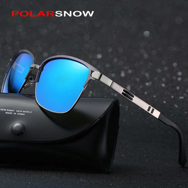 POLARSNOW Fashion Sunglasses Polarized Lens Eyewear Accessories Men 2017 Brand Driving Sun Glasses Top Quality Metal Oculos