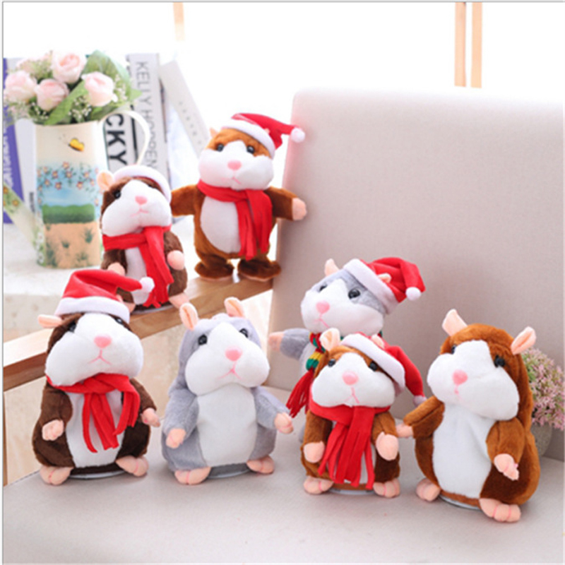 Talking Hamster Electronic Pets Baby Stuffed Toys Plush Dolls Sound Record Speaking Pet for Children Gift