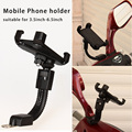 Universal Motorcycle Phone Holder Stand Motorbike rearview mirror Mount Bracket With Edge Protector for samsung huawei xiaomi LG