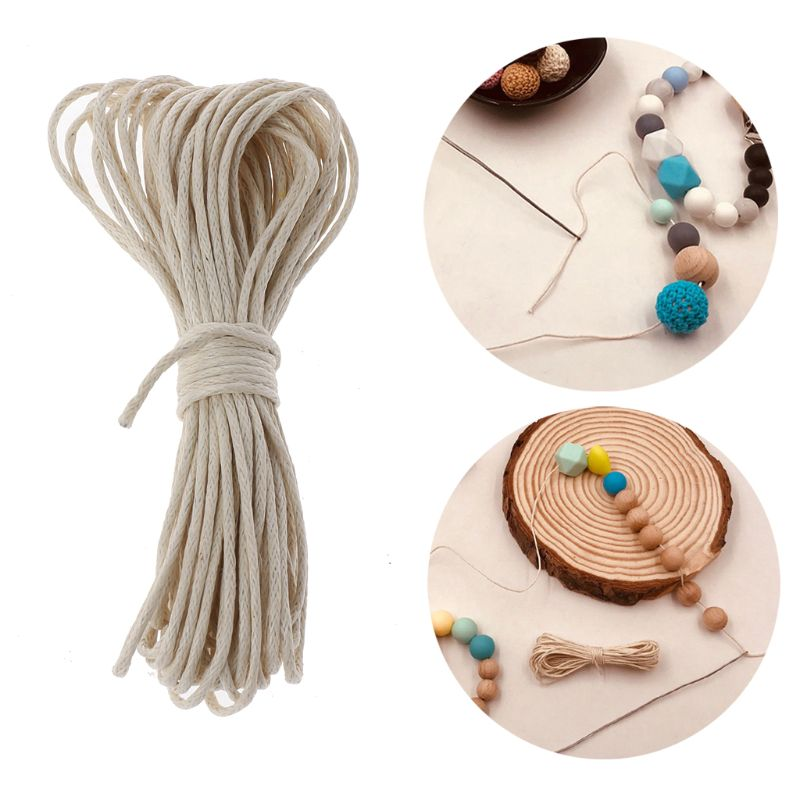 Drop ShiP 1mm Waxed Cotton Cord Baby Teether Accessories 5m Line For DIY Jewelry Making
