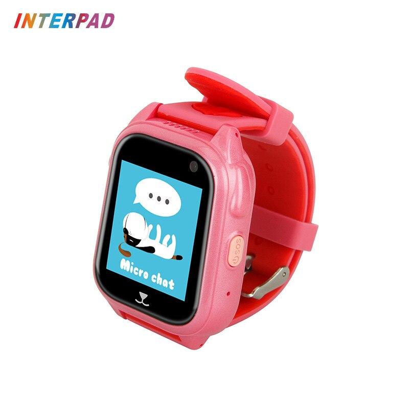 Interpad IP67 étanche enfants GPS montre intelligente enfants regarder SOS appel localisation dispositif Tracker sûr Anti-perdu pour les garçons filles