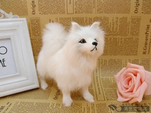 small simulaiton white dog toy lifelike dog baby doll gift about 17x7x14cm