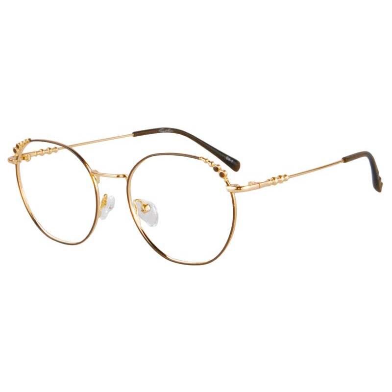 SHINU retro golden metal Thin frame glasses Anti Blue Ray Prescription Eyewear Progressive multifocal Lenses glasses(China)