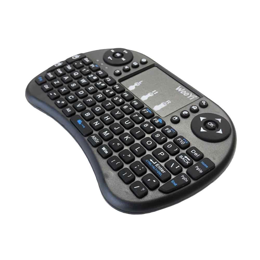 WooYi i8 Мини Беспроводная клавиатура 2,4 ГГц английский rabic Русский Иврит сенсорный экран с клавиатурой qwerty для ноутбука Android tv Box x96 x92
