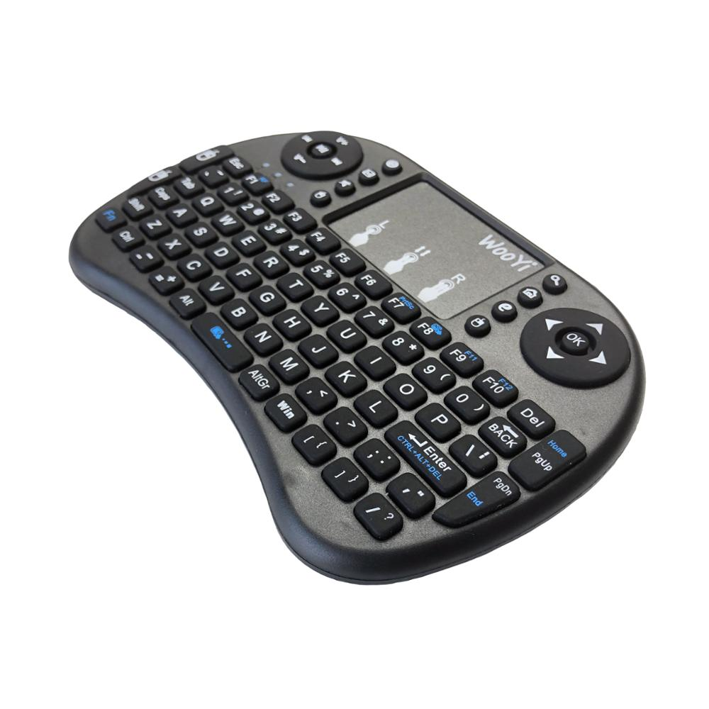 Image 4 - WooYi i8 Mini Wireless Keyboard 2.4GHz English rabic Russian Hebrew QWERTY Keyboard Touchpad For Laptop Android TV Box x96 x92-in Keyboards from Computer & Office