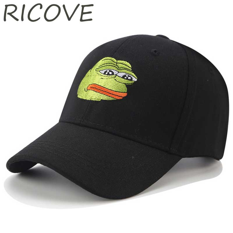 Kermit Pepe Frog Funny Trucker Cap Snapback Men Black Dad Hat Summer Hip Hop Baseball Cap Hats For Women Tea Cartoon Cotton Caps