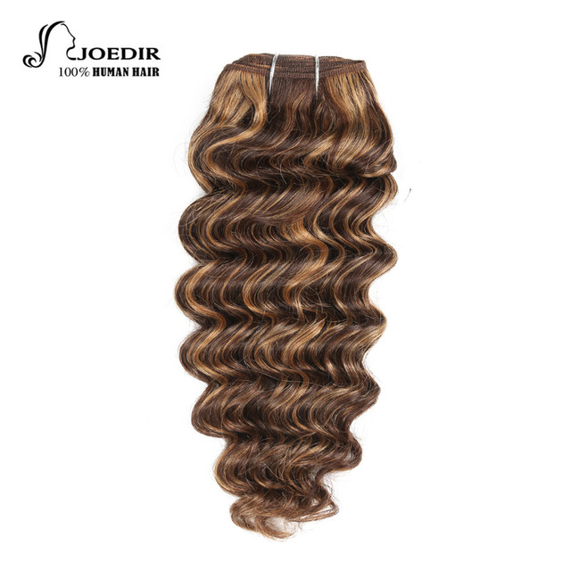 Joedir Hair Pre Colored Brazilian Remy Human Weave Nature Deep Wave F1b