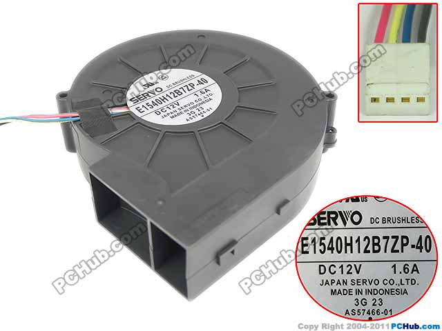 Emacro For SERVO E1540H12B7ZP-40 Server Fan DC 12V1.60A 150x120x40mm 4-wire free shipping emacro bdb05405hhb ah51 dc 5v 0 36a 4 wire 4 pin connector 45mm server laptop cooling fan