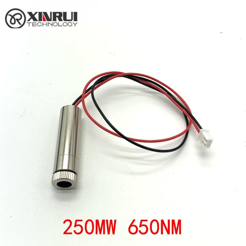 Real Power RED Line Laser Module 250MW 405nm Focus Adjustable Laser Head 5V Industrial Grade DIY Laser Module
