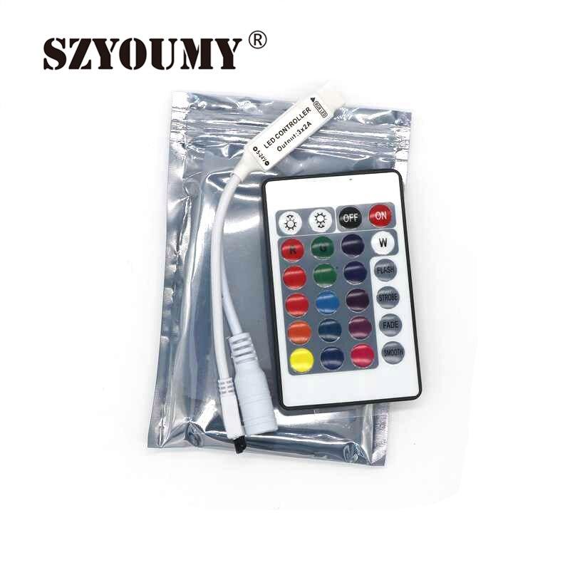 SZYOUMY 200X Mini DC12V 24 44 Keys Wireless LED RGB Controller With IR Remoter Control For