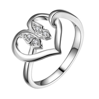 Love Heart Butterfly Wholesale 925 Jewelry Silver Plated Ring Fashion Jewelry Ring For Women ICZTOHZI SKNYHYBW