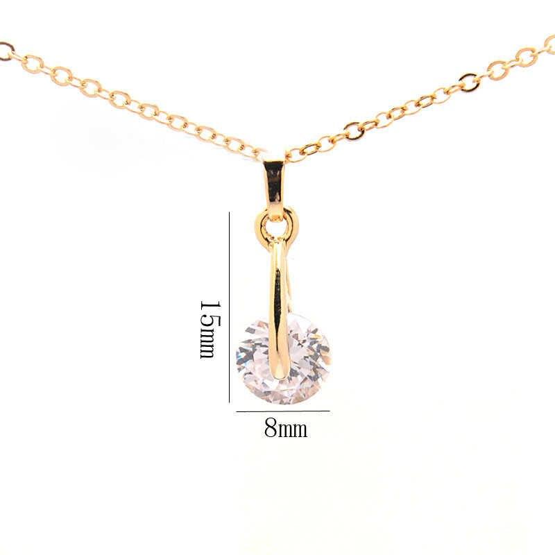 Hợp thời trang CZ Pha Lê Trang Sức Sets đối với Phụ Nữ ngày valentine quà tặng Vàng ngày Màu Pendant Necklace Bông Tai Hạt Châu Phi Bộ Đồ Trang Sức