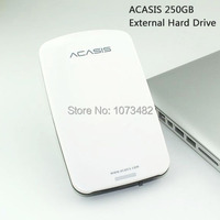 Free Shipping On Sale ACASIS Original 250G 2 5 Inch USB2 0 HDD Mobile Hard Disk