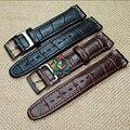 Alta calidad negro marrón 17 19 mm cuero genuino correa de reloj para Swatch impermeable