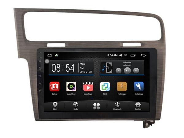 Otojeta 10.2 дюймов 4 ядра Android 6.0 Автомобильный мультимедийный плеер DVD рекордер для <font><b>VW</b></font> Гольф 7 черный gps-навигация Радио стерео