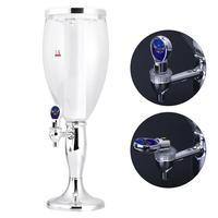 Plastic Beer Dispenser Machine Receptacles Drinking Pistol Pump Transparent Layers Layout With LED Colorful Shinning Lights