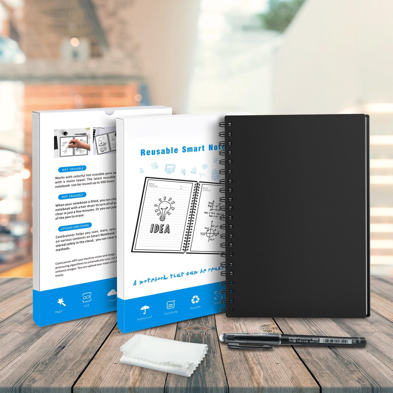 Effaçable Notebook Papier Réutilisable Smart Spiralés Portable Nuage De Stockage Flash De Stockage App Connexion Bloc-Notes Doublé Avec Stylo