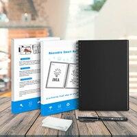 Notebook de papel apagável  reutilizável  smart wirebound  notebook  armazenamento em nuvem  flash  conexão app  bloco de notas  forro com caneta
