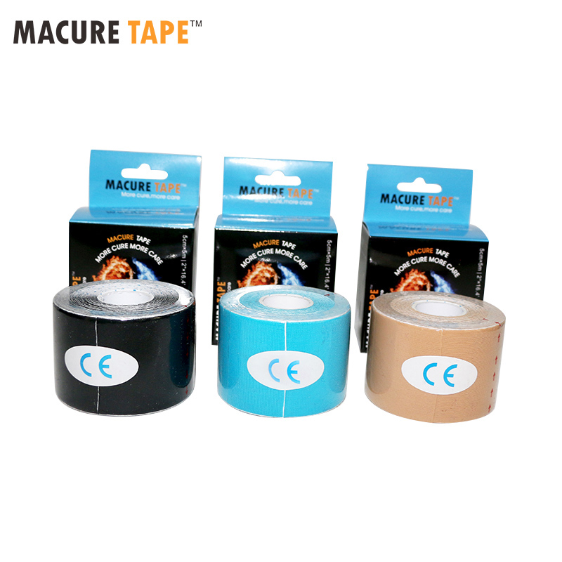 Macure Tape Dynamic Nylow 4 Way Stretch Kinesiology Tape  4 Sides Elastic Medical Sport Muscle Pain Massage Dynamic Tape