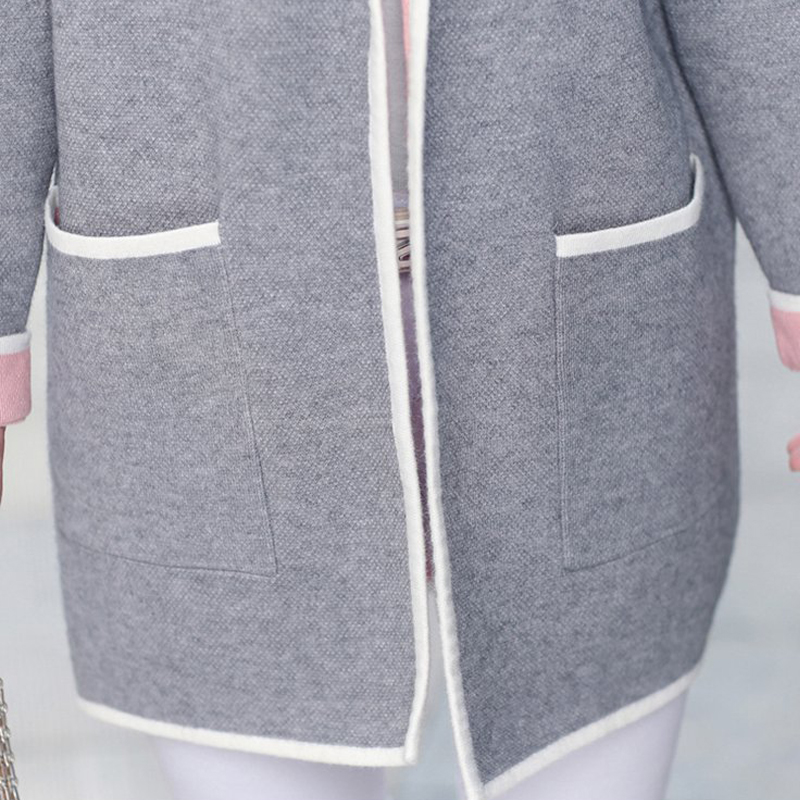 5XL Autumn Winter Jacket Women Coats 2019 Plus Size Knitted Cardigan Jackets Female Outerwear Casual Pocket Coat Jaqueta Mujer 5
