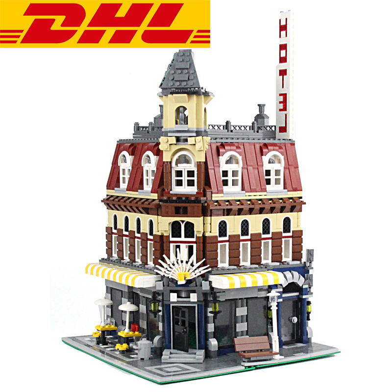 2018 New 2133Pcs City Street Figures Cafe Corne Model Building Kits Blocks Bricks Kids Toys For Children Gift Compatible 10182 10646 160pcs city figures fishing boat model building kits blocks diy bricks toys for children gift compatible 60147