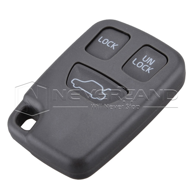 3 Button Remote Replacement Car Key Fob Case Shell for Volvo C70