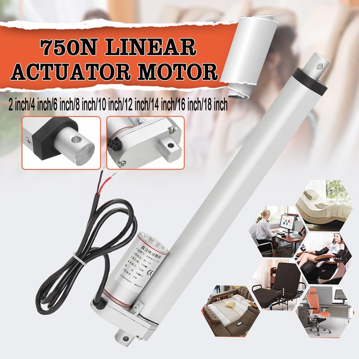 DC12V 2-18 Linear Actuator door Opener Motor Heavy max. Lift 160 Lbs 750NDC12V 2-18 Linear Actuator door Opener Motor Heavy max. Lift 160 Lbs 750N