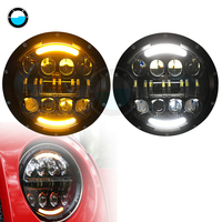 2pcs/Pair 7inch led headlight With DRL For Jeep Wrangler Jk TJ Hummer H1 & H2 Led Headlamp 80W headlight For Jeep.
