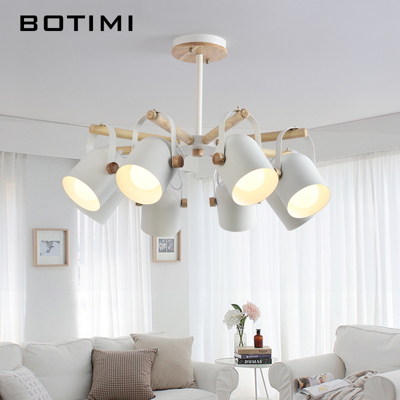 BOTIMI  LED Chandeliers For Living Room Lustre Hanging Lights Lustres para sala de jantar Dining Table Chandelier Kitchen Lamps led chandeliers for dining room bedroom kitchen white color k9 crystal chandelier light for home decoration lustres para quarto