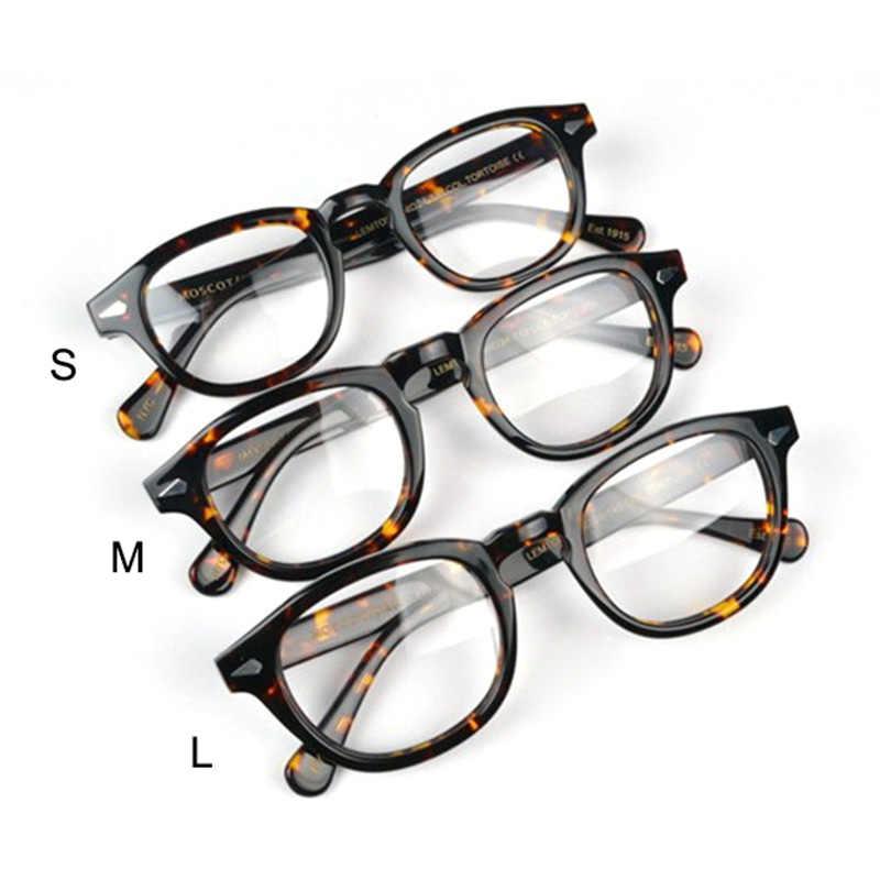 Vazrobe Brand Acetate Johnny Depp glasses Men Eyeglasses Frame  man small large Nerd Fashion non-prescription lens Tortoise