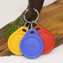 100 Pcs/lot Mix Color EM4100/TK4100 Access Control Card ID keyfobs RFID Tag Key Ring 125KHZ Proximity Token
