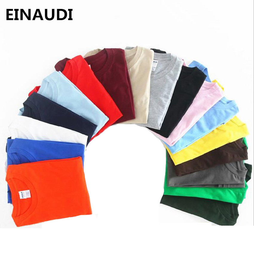 EINAUDI 2017 New Solid color T Shirt Mens Black And White 100% cotton T-shirts Summer Skateboard Tee Boy Skate Tshirt Tops F18