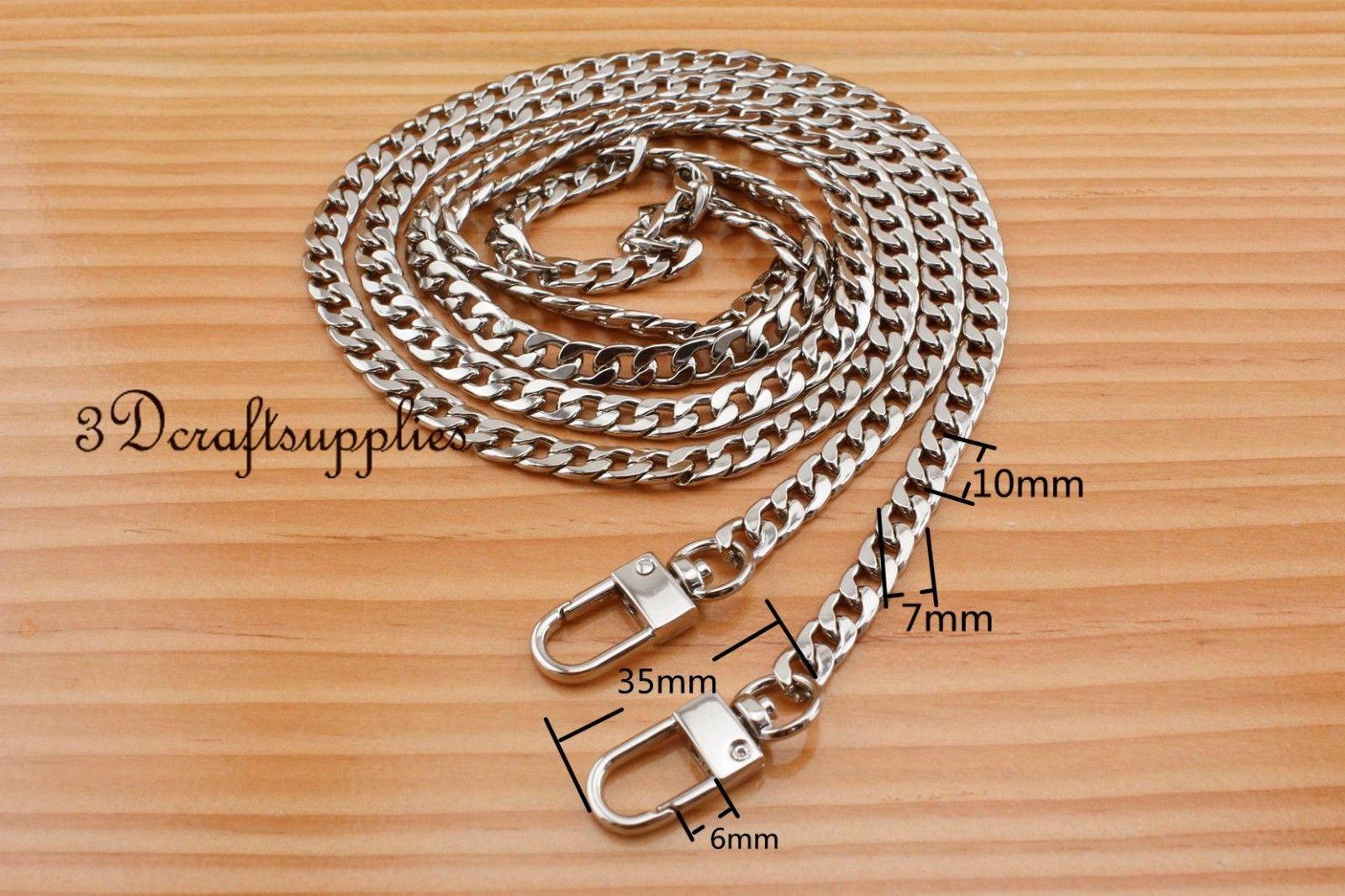Bag chain purse chain for bag metal shoulder chain cross body strap chain nickel 140 cm CK6